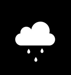 cloud with falling droplets icon isolated on vector image