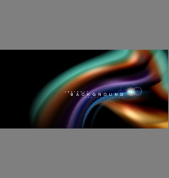 Color shiny light effects on black liquid style vector