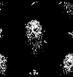 cruel zombie head pattern cruel vector image