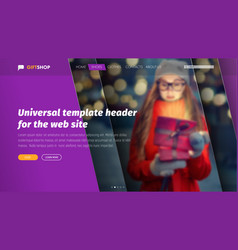 Design of ultraviolet header for a web site with vector