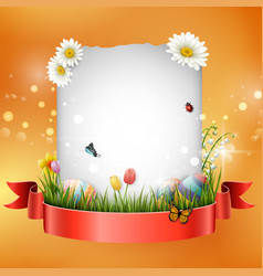 easter eggs with frame box vector image