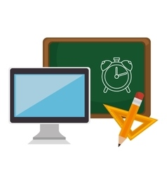 Education online elearning icon vector