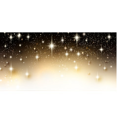 elegant starry christmas background with place vector image