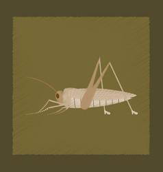 Flat shading style grasshopper vector