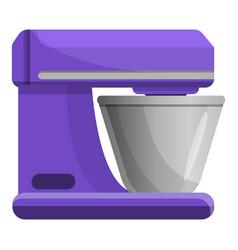 Food processor device icon cartoon style vector