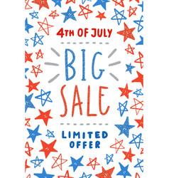 fourth july sale poster design vector image