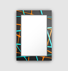 Frame with dark pattern on vector