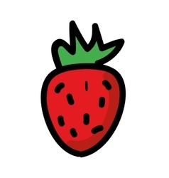 fresh strawberry isolated icon design vector image