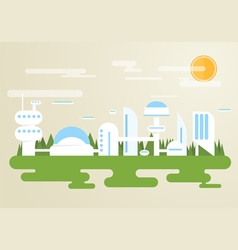 Future city vector image
