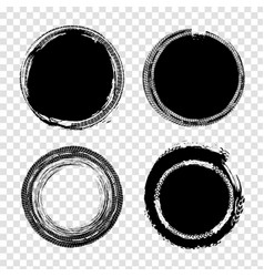 grunge tire set vector image