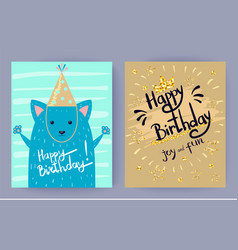 happy birthday joy and fun vector image