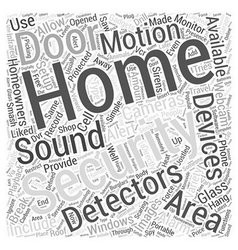 Home Security Devices Word Cloud Concept vector