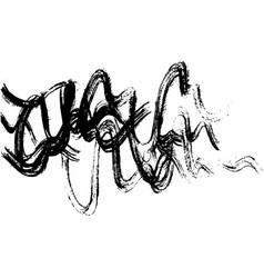 ink brush freehand stroke vector image