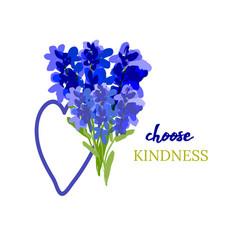 kindness design lavandula and heart vector image