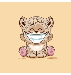 Leopard cub with huge smile vector