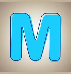 Letter m sign design template element sky vector