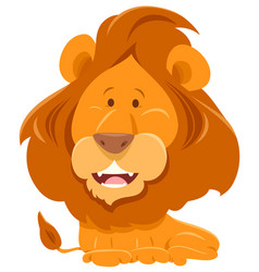 lion cartoon funny animal character vector image