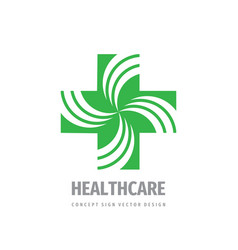 medical cross - logo template concept vector image