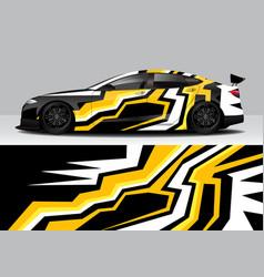 Modern sporty abstract car wrap auto sticker vector