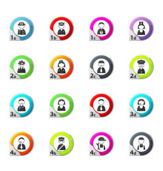 occupation and people icons set vector image
