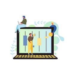 online stock exchange flat style design vector image