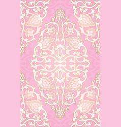 Oriental pink pattern vector