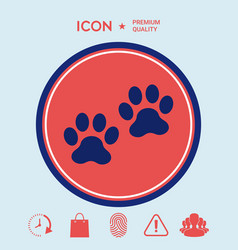 paws icon vector image