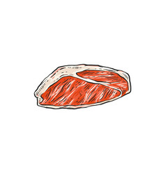 peace raw red meat - beef pork lamb vector image
