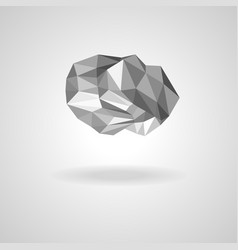 polygonal low poly cloud with shadow vector image