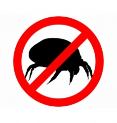 Prohibition sign for bugs vector
