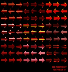 Red Arrows Set vector
