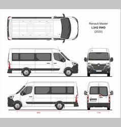 Renault master passenger van l3h2 rwd 2020 vector