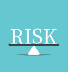 risk balancing concept vector image