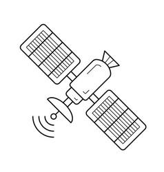 satellite antenna line icon vector image
