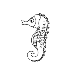 Sea horse cartoon vector image