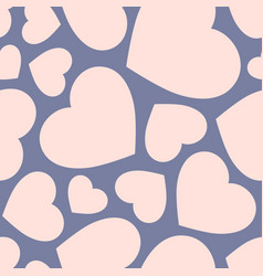 seamless pattern with big pink hearts valentine vector image