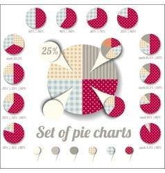 Set of pie charts vector