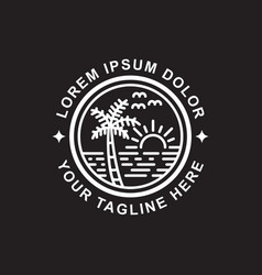 Simple island outline design vector