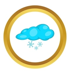 Snow and cloud icon vector