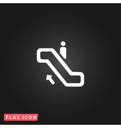 Staircase flat icon vector