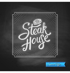 Steak House Special Offer promotion vector