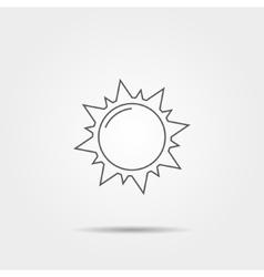Sun linear icon vector image