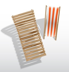 Sun loungers vector image