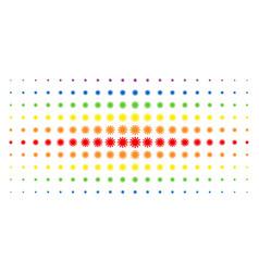 Sun spectral halftone array vector