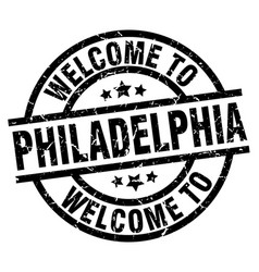 Welcome to philadelphia black stamp vector