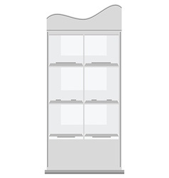 White display rack vector