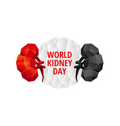 world kidney day background vector image