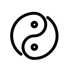 yin yang icon outline modern design element vector image