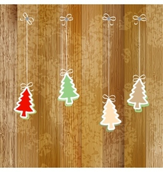 Christmas and New Year card EPS8 vector image vector image