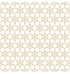 geometric gold and white floral seamless pattern vector image